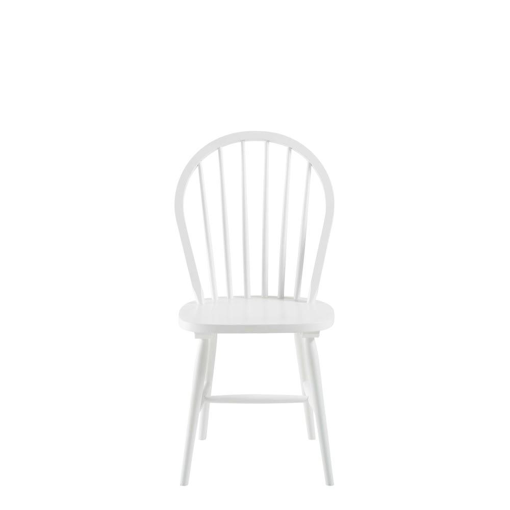 vintage stuhl aus kautschukholz wei maisons du monde. Black Bedroom Furniture Sets. Home Design Ideas