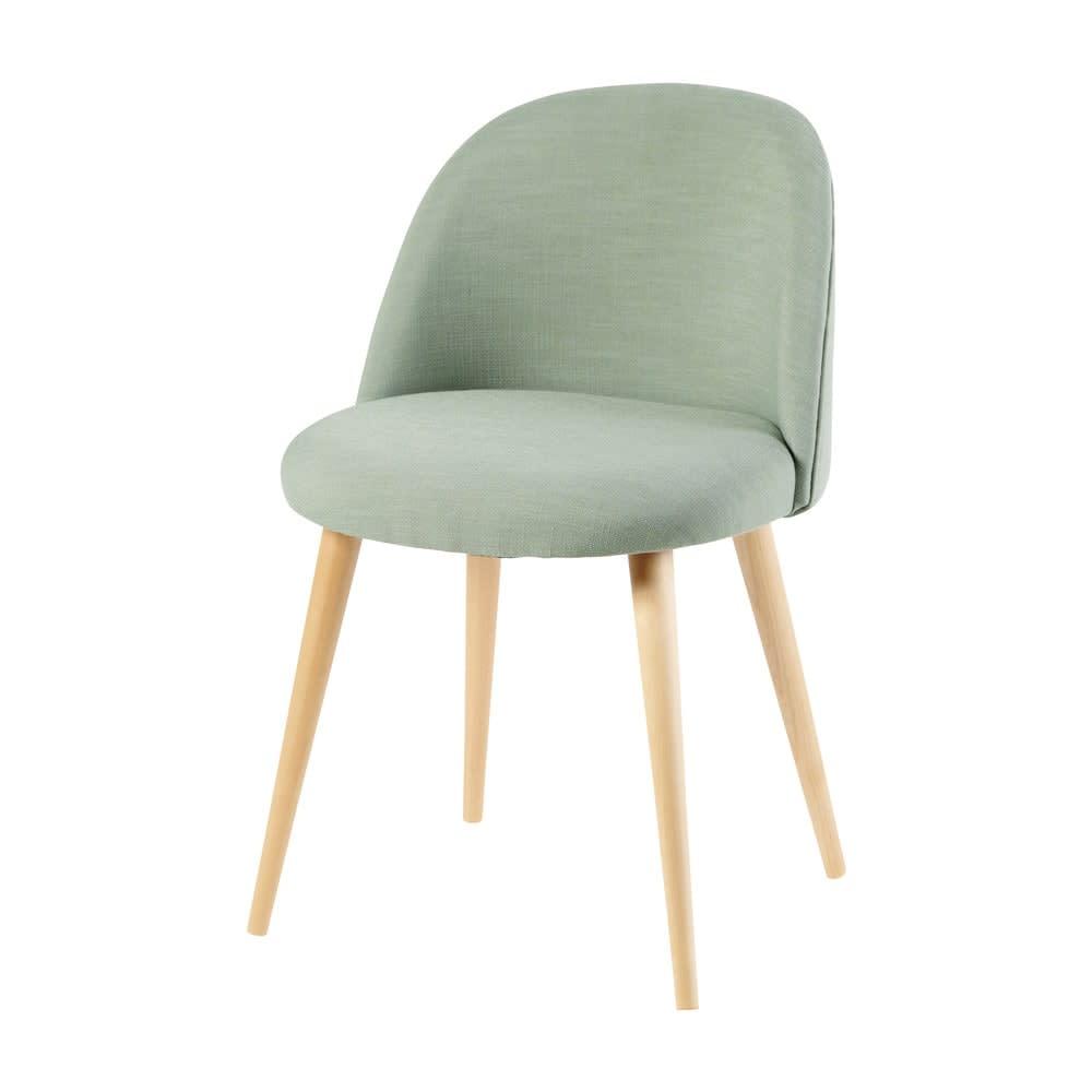 Vintage Stuhl Mit Massivbirke Hellgrün Mauricette Maisons Du Monde