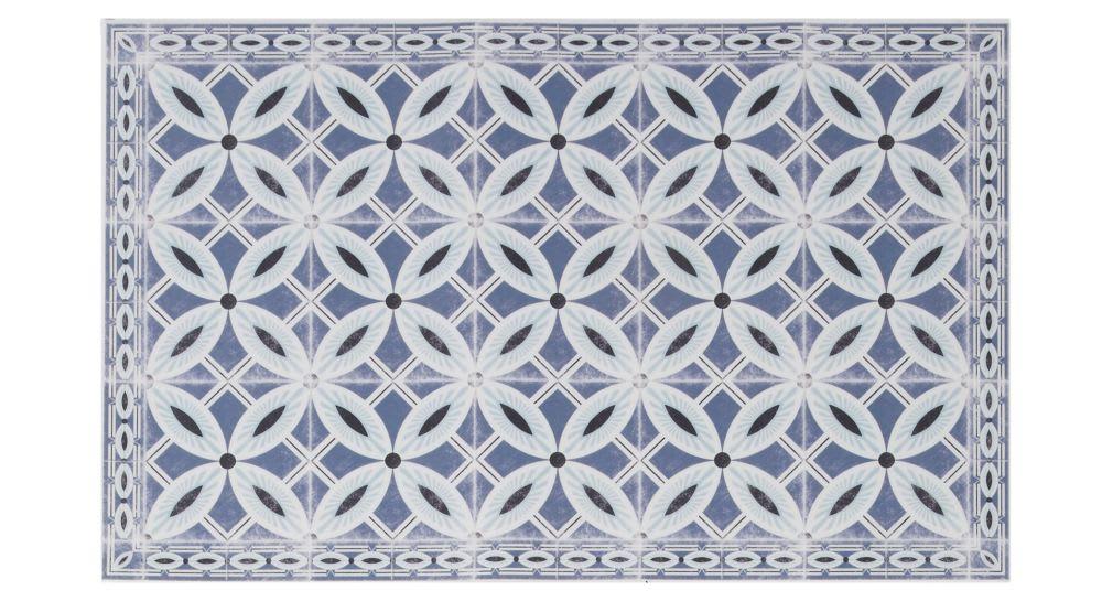 vinyl teppich mit zementfliesen motiven 50x80 porto. Black Bedroom Furniture Sets. Home Design Ideas