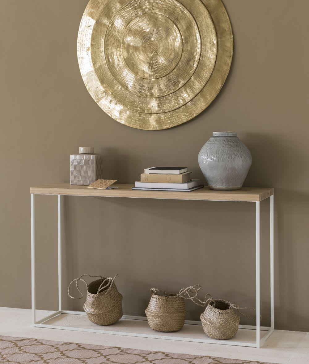 wanddeko aus geh mmertem metall goldfarben meknes. Black Bedroom Furniture Sets. Home Design Ideas