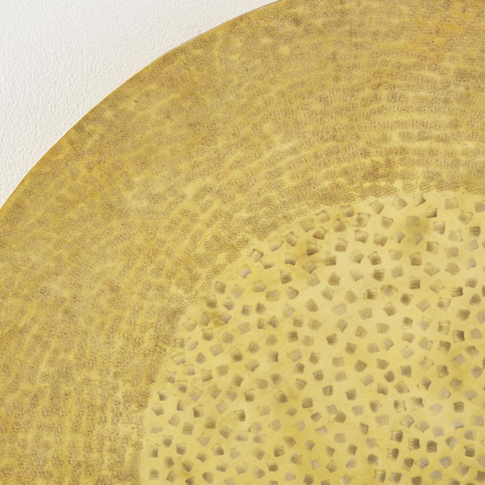 wanddeko aus geh mmertem metall goldfarben d90 nagpur. Black Bedroom Furniture Sets. Home Design Ideas