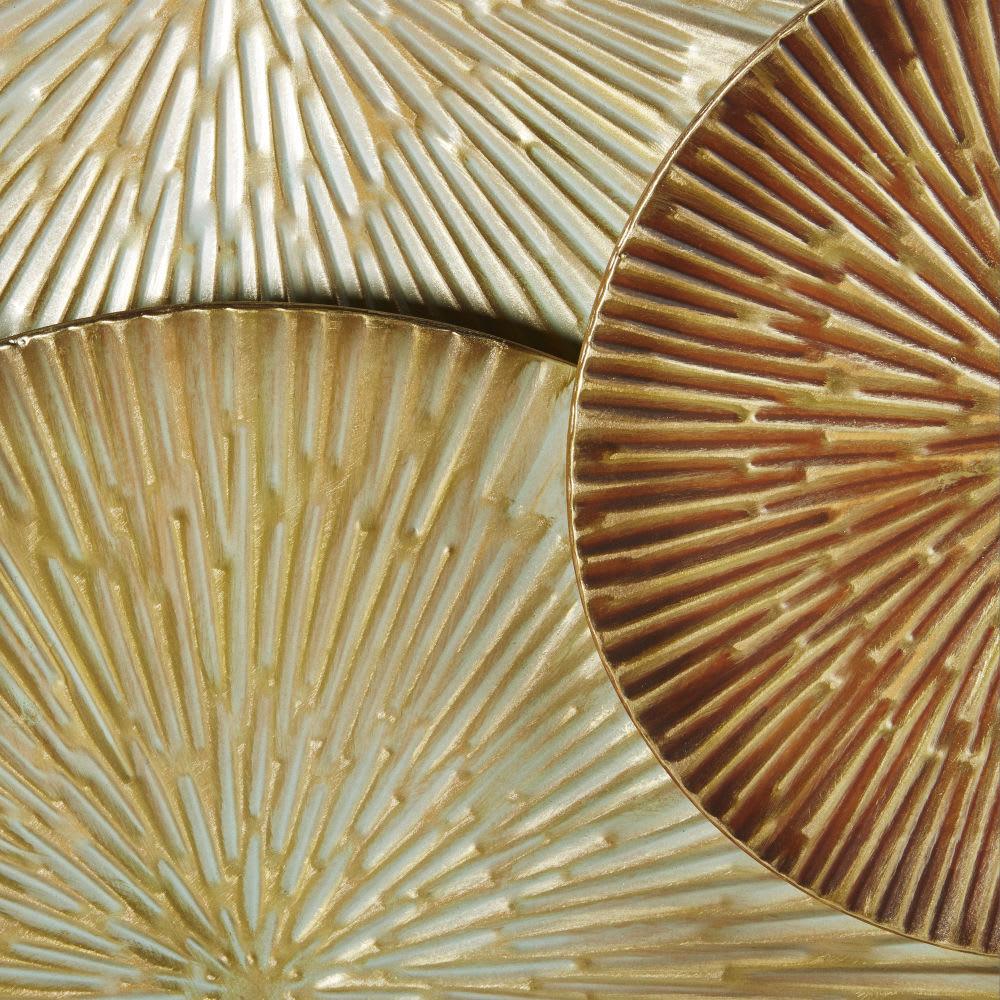 wanddeko aus metall goldfarben und braun 141x82 yucatan. Black Bedroom Furniture Sets. Home Design Ideas