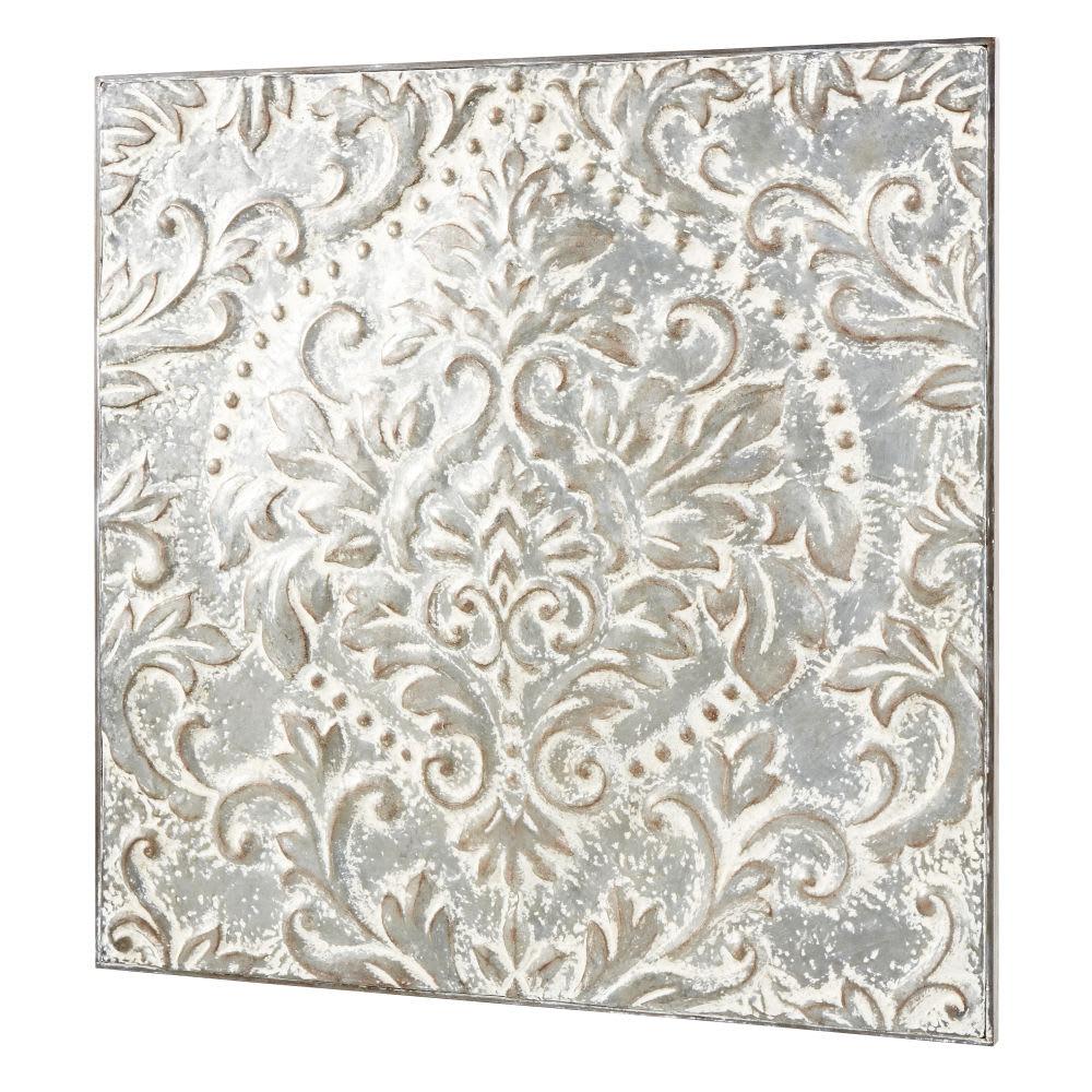 Wanddeko Aus Metall Grau Pigmentiert 93x93 Rochefort Maisons Du Monde