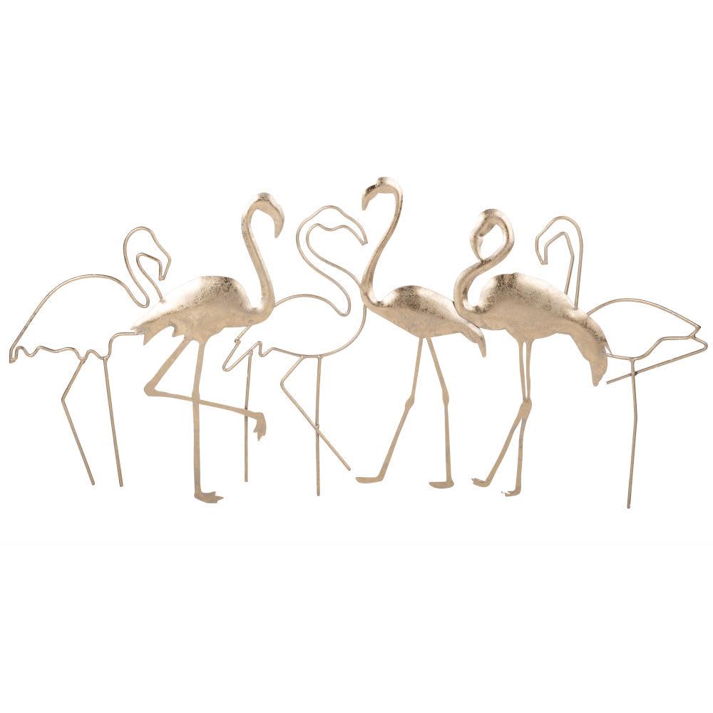 wanddeko flamingos aus metall 69x34 flamingos maisons du. Black Bedroom Furniture Sets. Home Design Ideas