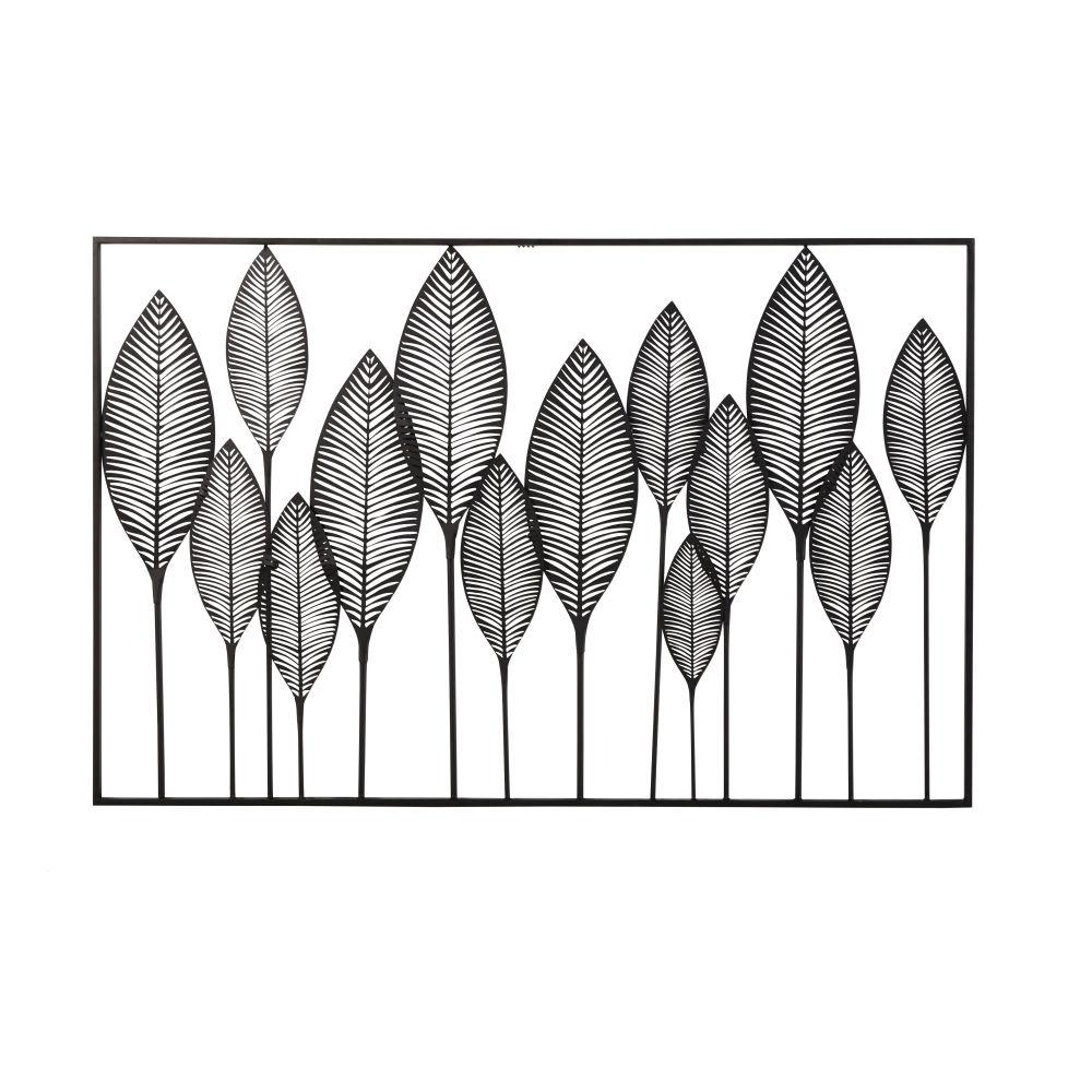 wanddeko mit lochmuster aus metall schwarz 125x82 lagos. Black Bedroom Furniture Sets. Home Design Ideas