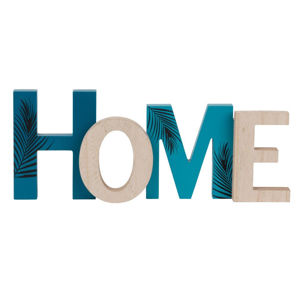 a77f99f1a98421 Wanddeko Schriftzug, naturfarben und taubenblau 38x15 Home   Maisons ...