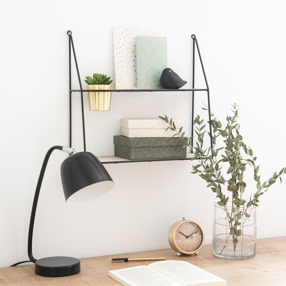 Wandplank Met Lamp.Wandplank Met Kunstmatige Vetplant Maisons Du Monde