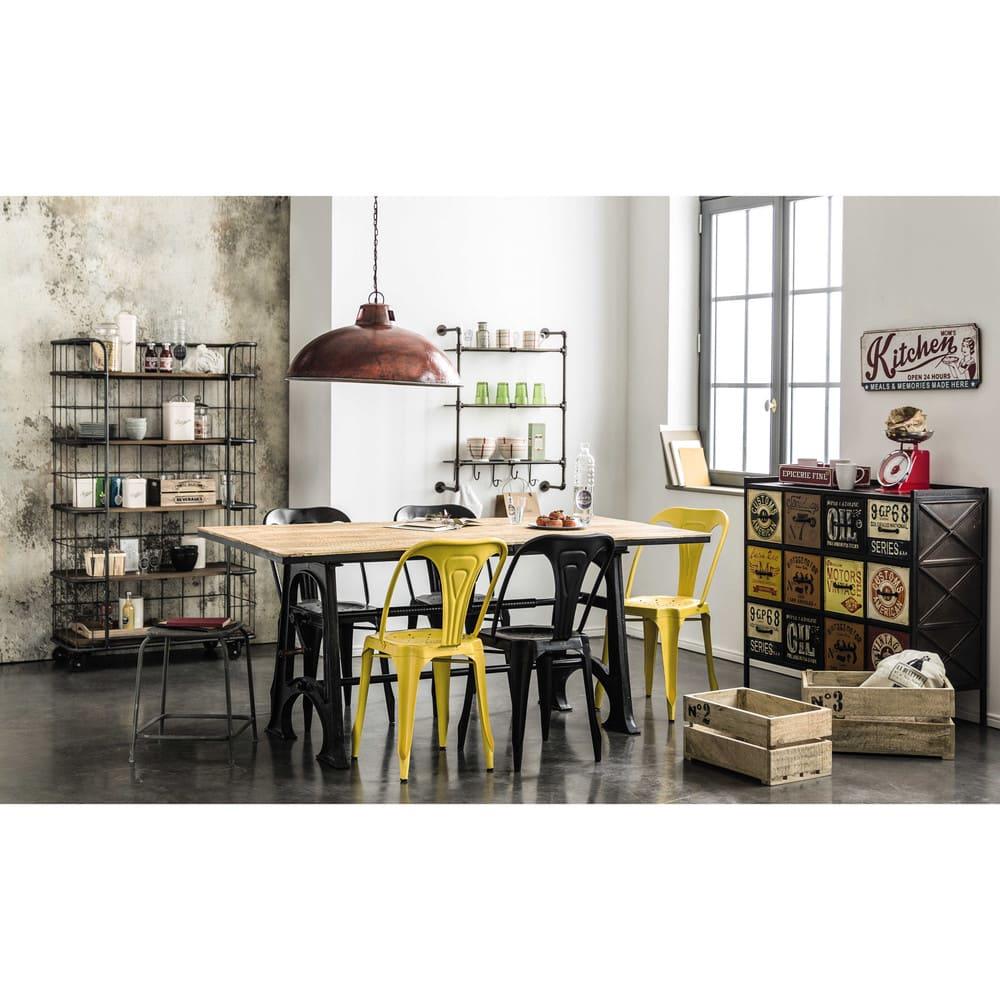wandregal aus metall in antikoptik b 68 cm gordon maisons du monde. Black Bedroom Furniture Sets. Home Design Ideas