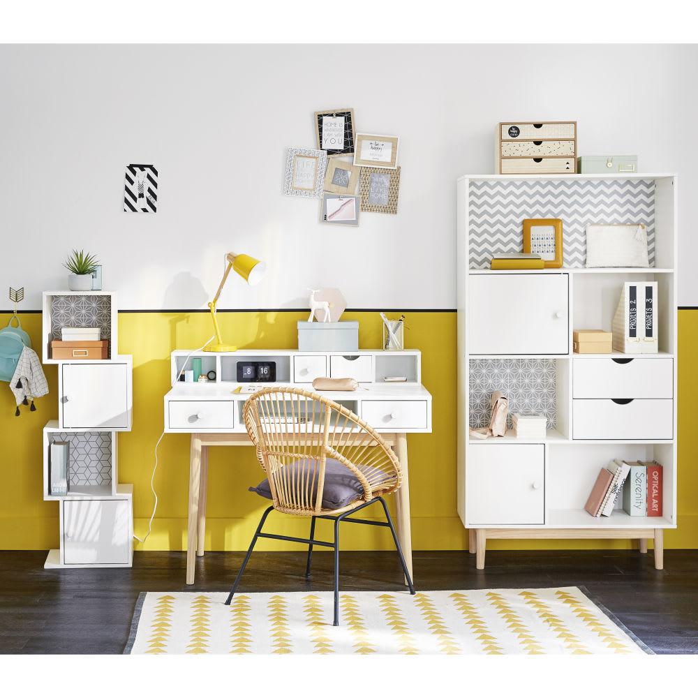 White 2-Drawer Desk Joy