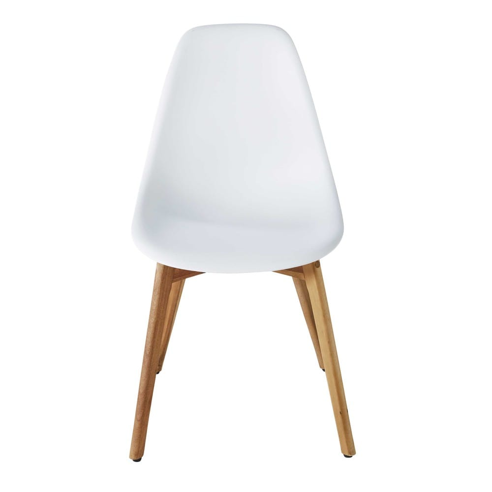 White Scandinavian Garden Chair Lima
