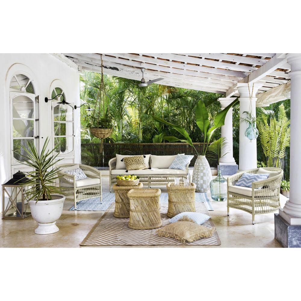 windlicht zum h ngen aus glas und makramee lilly maisons du monde. Black Bedroom Furniture Sets. Home Design Ideas