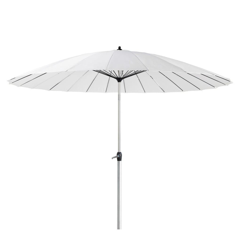 Grote Witte Parasol.Witte Stoffen En Aluminium Parasol Papaye Maisons Du Monde