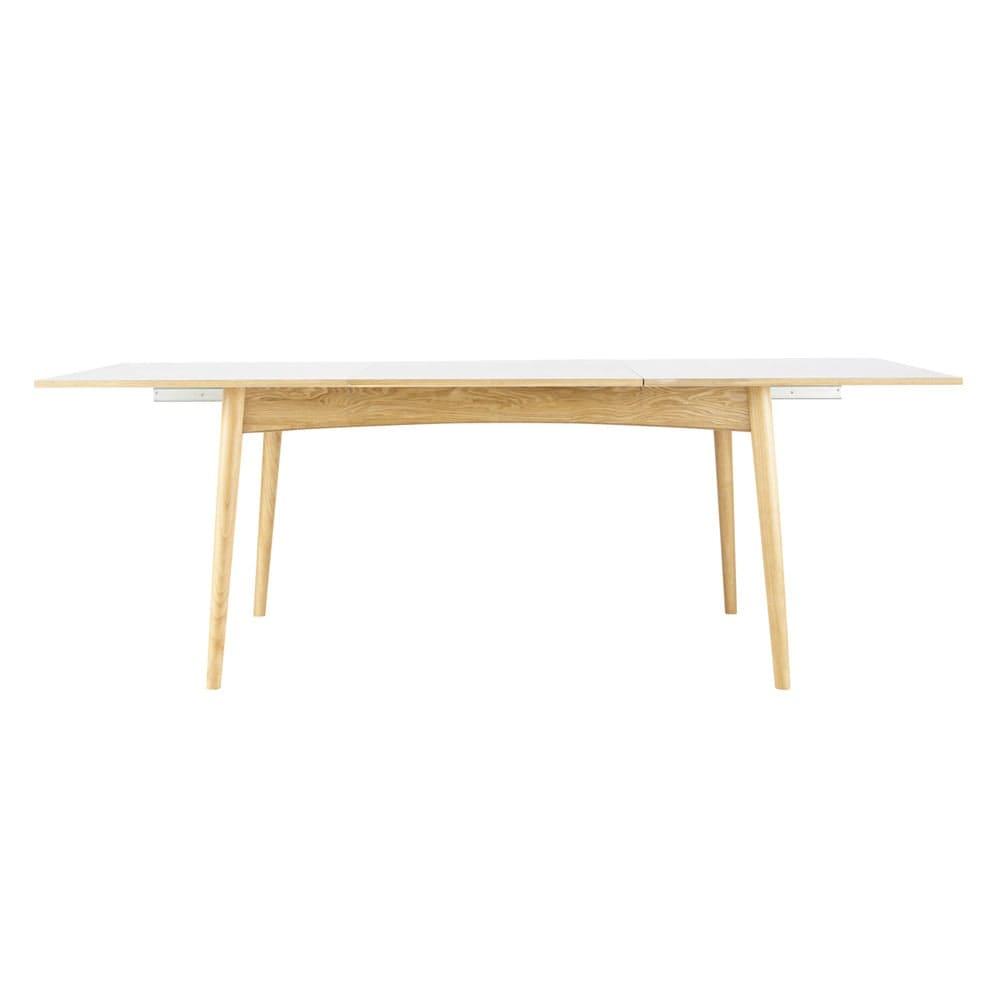 6 Witte Stoelhoezen.Witte Uitschuifbare Eettafel Voor 6 A 10 Personen L150 220 Boop