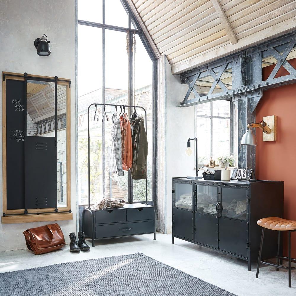 Wollteppich Industrial 140 X 200 Cm Grau Industry Maisons Du Monde