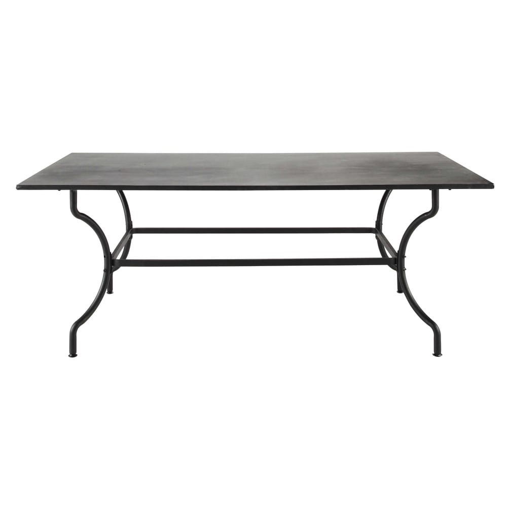 Wrought iron garden table in brown W 200cm