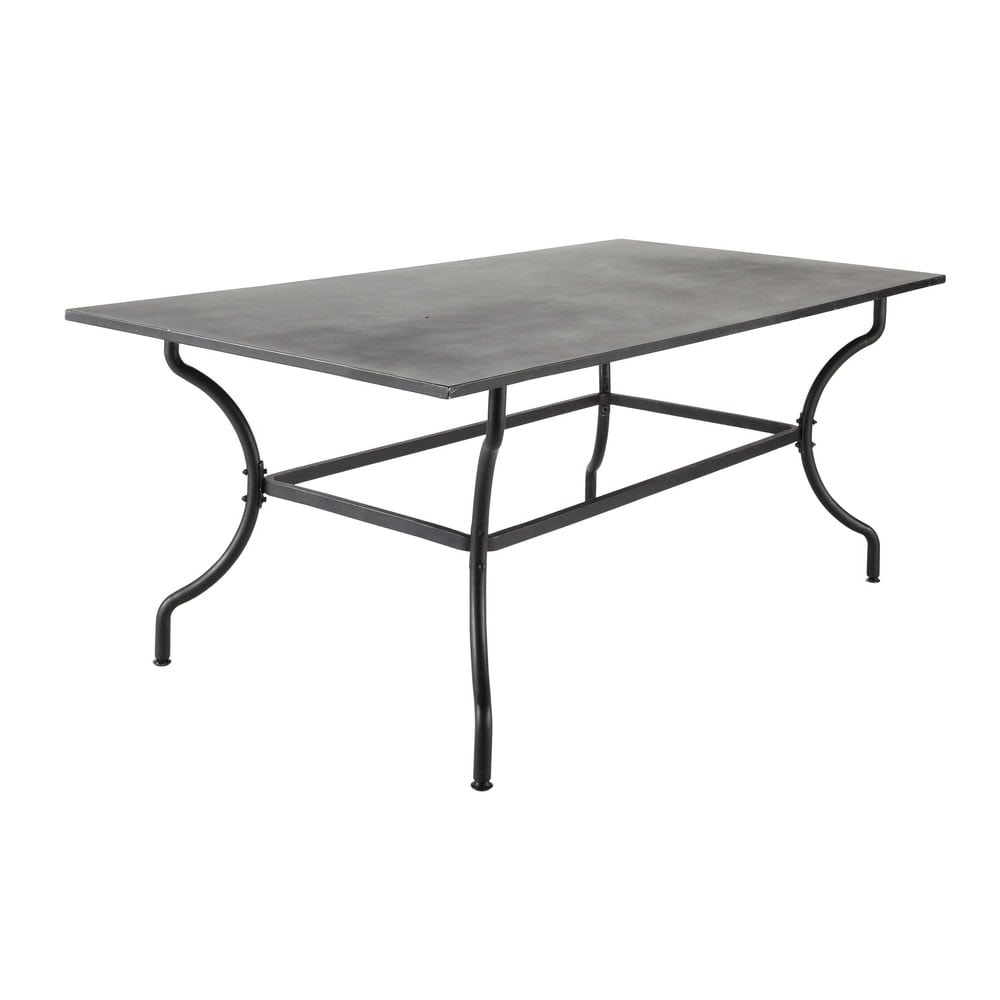 Wrought Iron Garden Table In Brown W 200cm Alpilles Maisons Du Monde