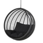 Hangstoel tuin van zwarte hars