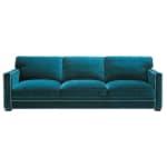 Sofa 4-/5-Sitzer aus Samt, blau