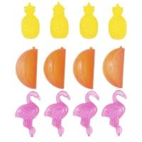 12 glaçons réutilisables motif tropical