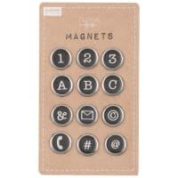 12 magnets téléphone noirs