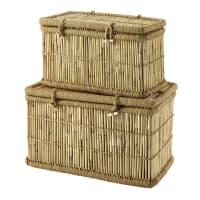 2 bamboe hutkoffers Tambun