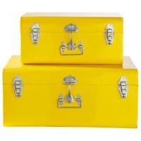 2 baúles de metal amarillos Barcelone