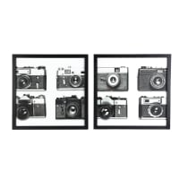 2 Black and White Photo Prints 60x60 Vintage Time