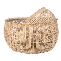 2 cestini in fibra vegetale traforata