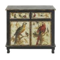 2-Door 2-Drawer Sideboard with Parrot Print Perroquet