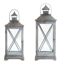 2 lanternes en métal Vigny