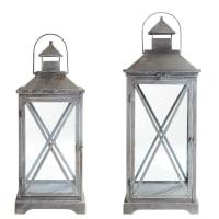 2 metal lanterns Vigny