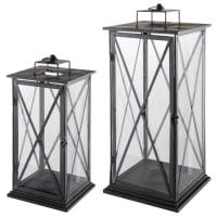 2 metal lanterns Comes