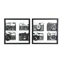 2 tableaux photos noir et blanc 60x60 Vintage Time