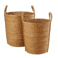 2 Woven Seagrass Baskets Bandol