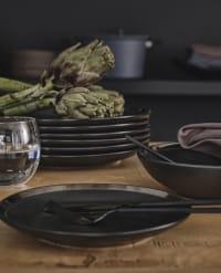 FUSAIN - 24-Piece Set of Black Stainless Steel Cutlery
