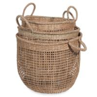 3 cestas trenzadas Corde
