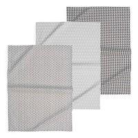 3 Geschirrtücher  aus Baumwolle Geometrix