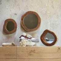 3 miroirs en acacia 42x40 Ivalo