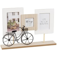 3-Opening Tabletop Photo Frame 39 x 27 Bicyclette