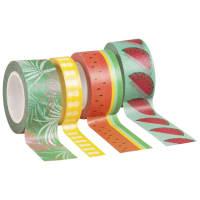 3 rollen masking tape met fruitprint