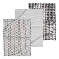 3 torchons en coton Geometrix