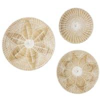 3 wanddecoraties van zeegras 60x60 Goa