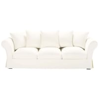 4/5 seater cotton sofa in ivory Roma