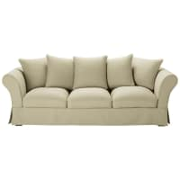 4/5 seater cotton sofa in putty Roma