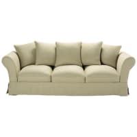 4/5 seater linen sofa in beige Roma