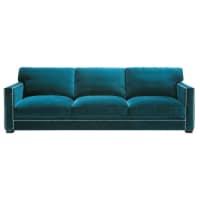 4/5 seater velvet sofa in blue Dandy