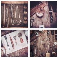 4 lienzos estampados de barbero 60x60 cm Hipster | Maisons du Monde