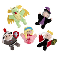 5 marionnettes enfant en tissu Chevalier