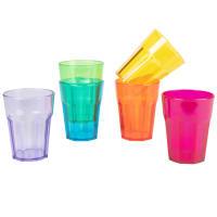 6 Kunststoffbecher, mehrfarbig Arc-En-Ciel