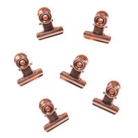 CUIVRE - Lot de 2 - 6 pinces clip magnétique en métal